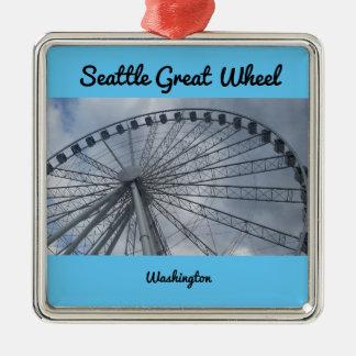 シアトルの素晴らしい車輪のピュージェットサウンドワシントン州 メタルオーナメント