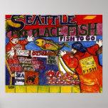 シアトルの魚市場 ポスター