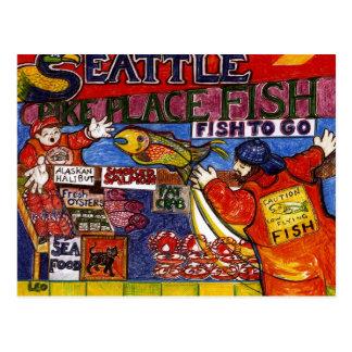 シアトルの魚市場 ポストカード