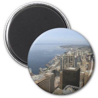 シアトルのArialの眺め マグネット