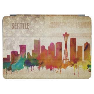 シアトルのWA|の水彩画都市スカイライン iPad AIR カバー