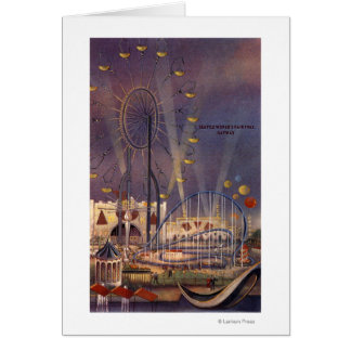 シアトルのWashington1962万国博覧会ポスター カード