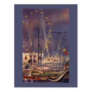 シアトルのWashington1962万国博覧会ポスター ポストカード