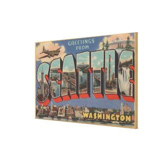 シアトルのWashingtonLargeの手紙場面 キャンバスプリント