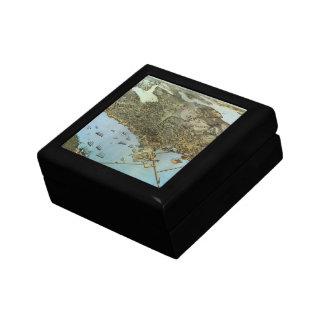 シアトルワシントン州旧式な地図の空中写真の市 ギフトボックス