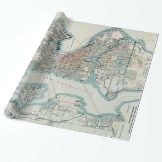 シアトルワシントン州(1911年)のヴィンテージの地図 ラッピングペーパー