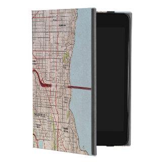 シアトル地勢都市地図 iPad MINI 4ケース