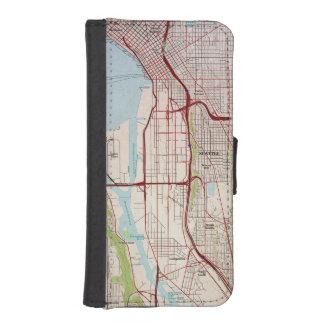 シアトル地勢都市地図 iPhoneSE/5/5sウォレットケース