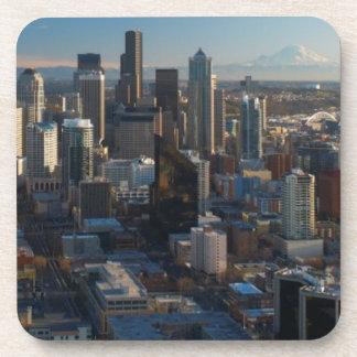 シアトル都市スカイラインの空中写真 コースター