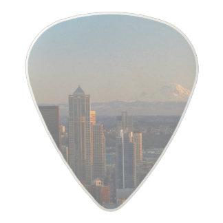 シアトル都市スカイライン2の空中写真 アセタール ギターピック