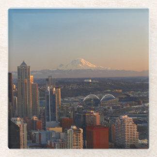 シアトル都市スカイライン2の空中写真 ガラスコースター