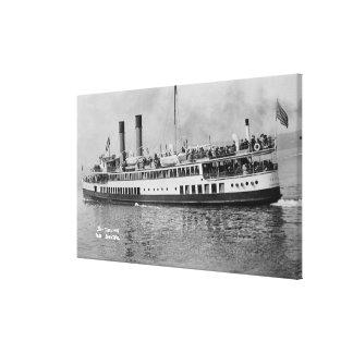 シアトル、タコマ市の汽船のWashingtonView キャンバスプリント