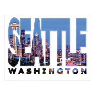 シアトル、ワシントン州の郵便はがき ポストカード
