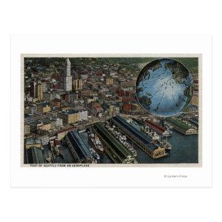 シアトル、ワシントン州-シアトルのアンテナ ポストカード
