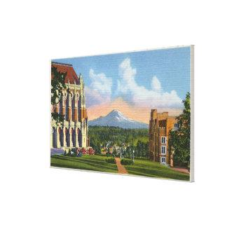 シアトル、ワシントン州-ワシントン大学 キャンバスプリント