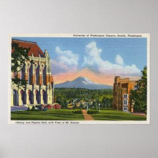 シアトル、ワシントン州-ワシントン大学 ポスター
