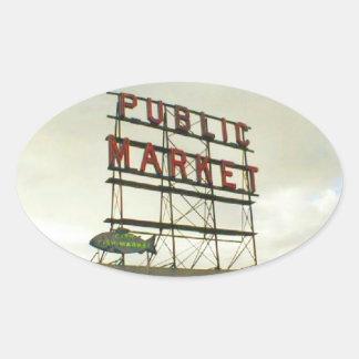 シアトル、WAの大衆相場 楕円形シール