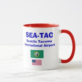 シアトルTacoma* (海)の国際空港のマグ マグカップ