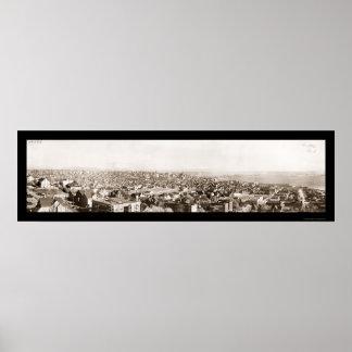 シアトルWAレーニア山の写真1926年 ポスター