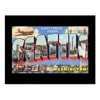 シアトルWashington_Vintage旅行からの挨拶 ポストカード