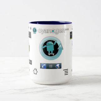 シアンのマグ3 ツートーンマグカップ