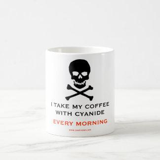 シアン化物、自殺、毒 コーヒーマグカップ