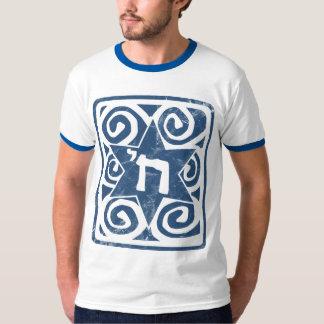 シェを持つ動揺してな、織り目加工のダビデの星 Tシャツ