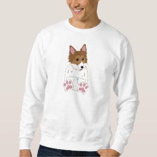 シェットランド・シープドッグのおむつの子犬 スウェットシャツ