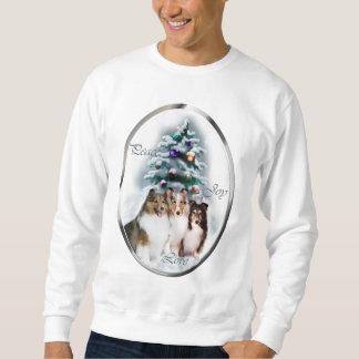 シェットランド・シープドッグのクリスマスのギフト スウェットシャツ