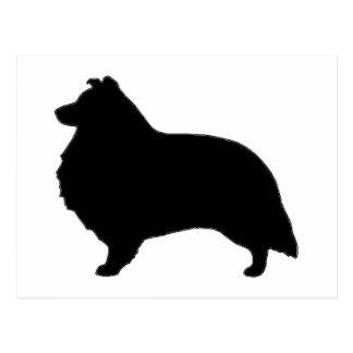 シェットランド・シープドッグのサイロblack.png ポストカード