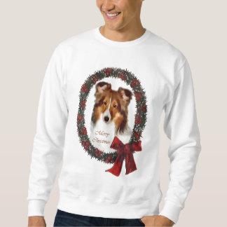 シェットランド・シープドッグのシェットランド・シープドッグのクリスマスのギフト スウェットシャツ