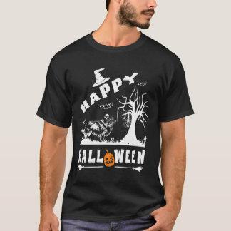シェットランド・シープドッグのハッピーハローウィンの愛犬家のギフト Tシャツ