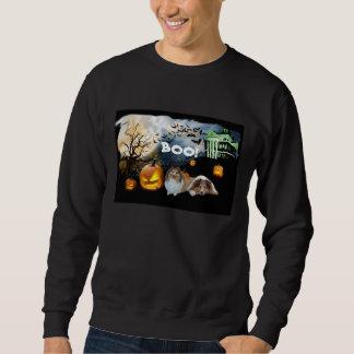 シェットランド・シープドッグのハロウィンのユニセックスなスエットシャツ スウェットシャツ
