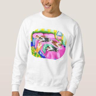 シェットランド・シープドッグのピンクの心地よい スウェットシャツ