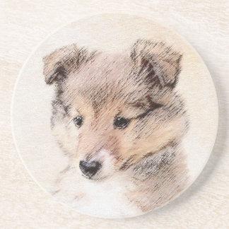 シェットランド・シープドッグの子犬 コースター