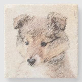 シェットランド・シープドッグの子犬 ストーンコースター