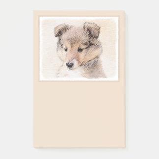 シェットランド・シープドッグの子犬 ポストイット