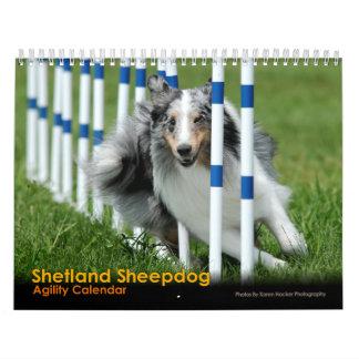 シェットランド・シープドッグの敏捷のカレンダー カレンダー