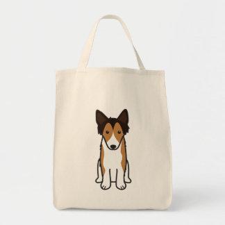シェットランド・シープドッグ犬の漫画 トートバッグ