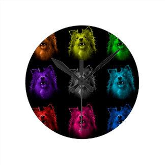 シェットランド・シープドッグ犬の芸術0207のBB ラウンド壁時計