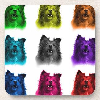 シェットランド・シープドッグ犬の芸術0207 WB コースター