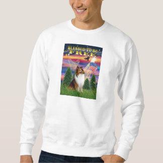 シェットランド・シープドッグ(クロテンおよび白) スウェットシャツ