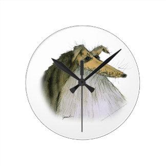 シェットランド・シープドッグ、贅沢なfernandes ラウンド壁時計