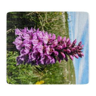 シェトランド諸島の蘭の装飾的なガラスまな板 カッティングボード