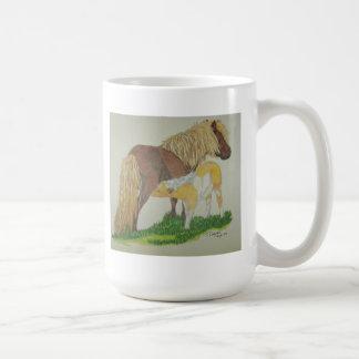 シェトランド諸島子馬のマグ コーヒーマグカップ