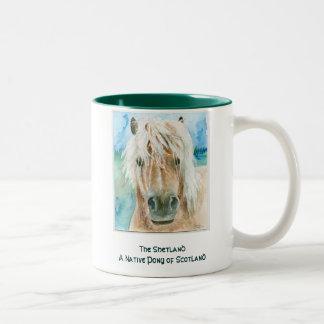 シェトランド諸島子馬 ツートーンマグカップ