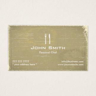 シェフのケータリングのレストランのヴィンテージの古い紙 名刺