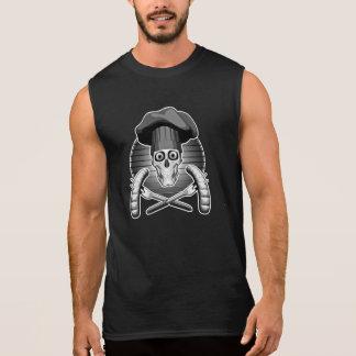 シェフのスカル: 焼くこと 袖なしシャツ