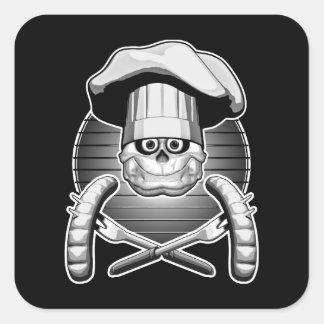 シェフのスカル: Cookout スクエアシール