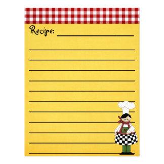 シェフのレシピの文房具 レターヘッド